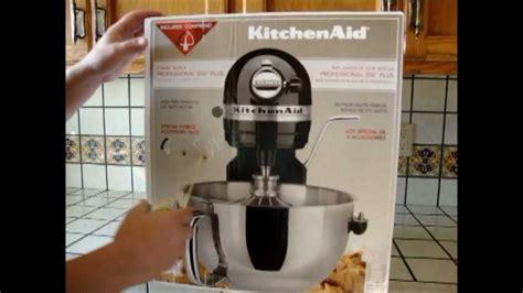 box opening   kitchenaid professional