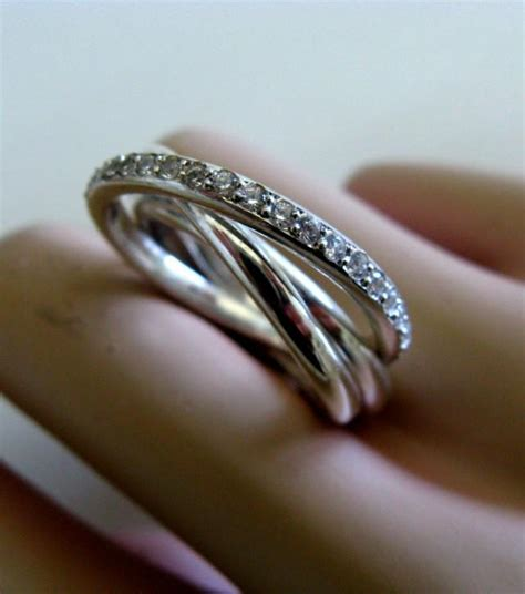 fine jewelry russian wedding bands trinity engagement ring sterling silver rolling ring