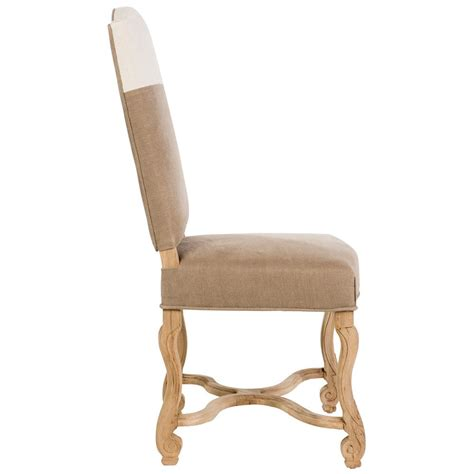 monaco country brown white upholstered dining chair