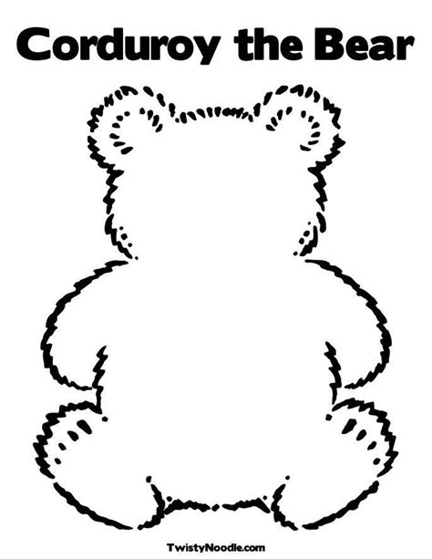 corduroy  bear coloring pages teddy bear picnic