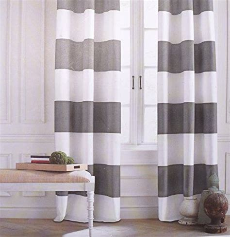 hilfiger cabana wide stripes curtains 2 panels 50 by