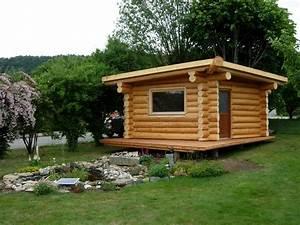 Batiments annexes maison bois rond for Cabanon de jardin bois