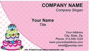 Cake business card for Cake business cards templates free