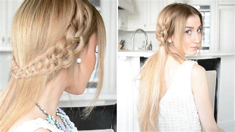 4-strand Slide Up Braid Hairstyle