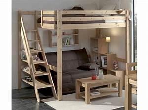 Lit Mezzanine 140x190 : lit mezzanine 2 places lit moderne literie ~ Melissatoandfro.com Idées de Décoration