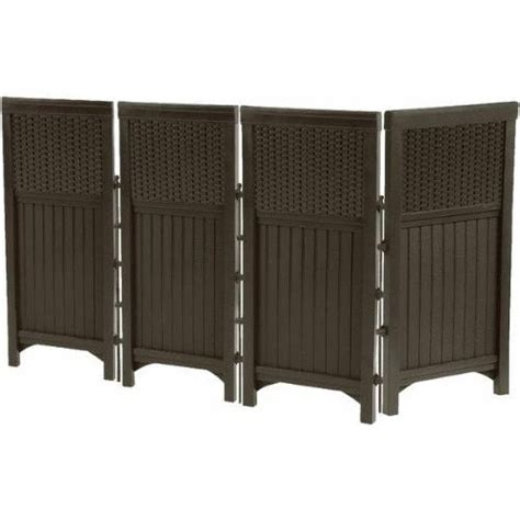 outdoor screen 4 panel wall divider pool deck tub