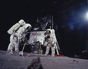 Edwin 'Buzz' Aldrin and Neil Armstrong practice moon ...