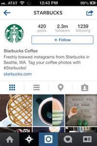 Starbucks Instagram Account