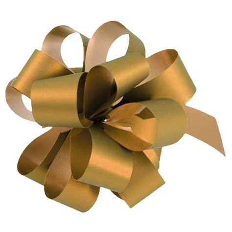 20 Metallic Gold Pull Bows Uk