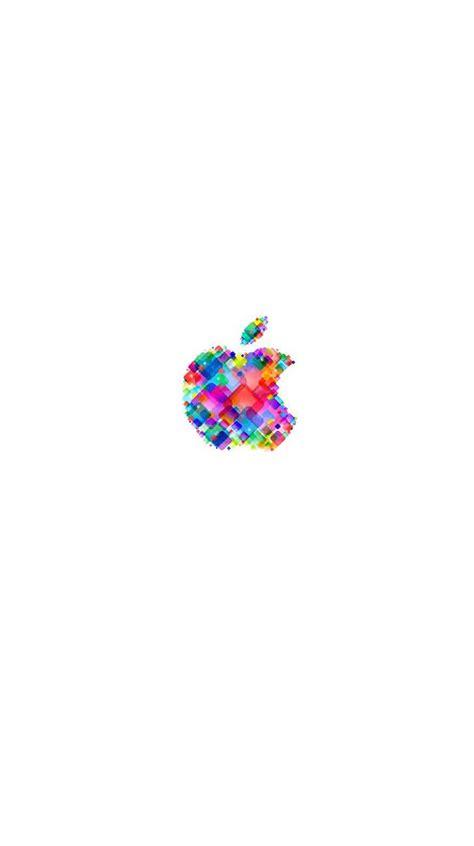 logo apple pop berwarna warni putih wallpapersc iphones