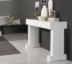 Table De Salon Extensible : console extensible ~ Teatrodelosmanantiales.com Idées de Décoration