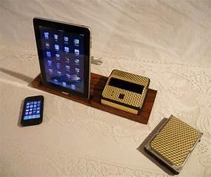 Dockingstation Ipad Und Iphone : wooden iphone ipad docking station with hard drive bay gadgetsin ~ Markanthonyermac.com Haus und Dekorationen