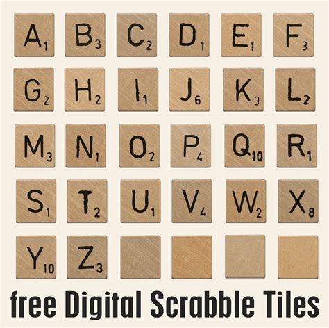 Scrabble Tiles Httpdigitalscrapbookingnet Free