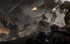 Warhammer 40K - Orks vs Imperial Guard - Other & Video ...
