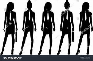 Business Woman Silhouette Stock Vector 114081874 ...