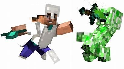 Minecraft Steve Creeper Transparent Roblox Herobrine Clipart