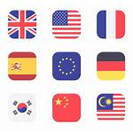 International Flags Icons Flaticon Vector