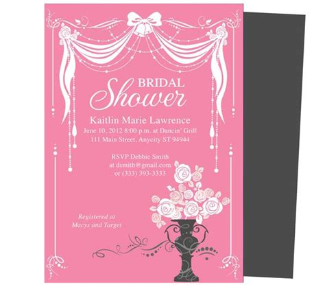 bridal shower invitation  templates  word