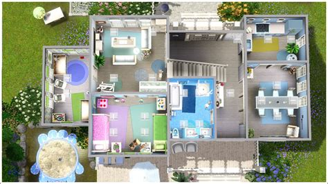 sims 3 family home floor plans