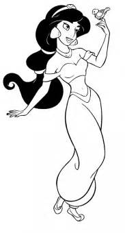 HD wallpapers coloring pages of disney princess jasmine