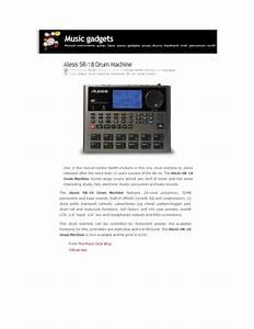Alesis Sr-18 User U0026 39 S Manual