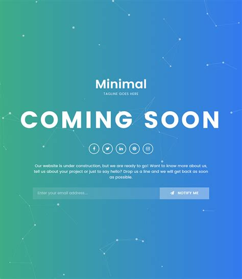 Coming Soon Template Minimal Coming Soon Html5 Bootstrap Template