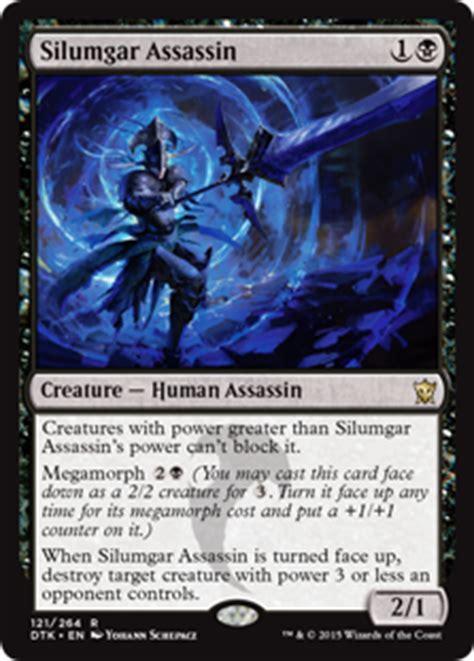 mtg black assassin deck silumgar assassin dragons of tarkir gatherer magic