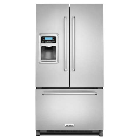 counter depth refrigerator dimensions kitchenaid kitchenaid krfc400ess 20 cu ft counter depth door