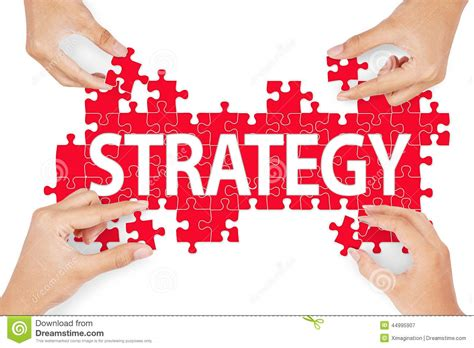 Hands Making Strategy From Puzzle Stock Illustration  Illustration Of Business, Games 44995907