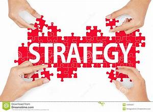 Hands Making Strategy From Puzzle Stock Illustration ...