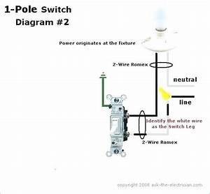 Double Pole Switch Wiring Diagram Single Pole Vs Double Pole Switch Wiring Diagram Double Pole
