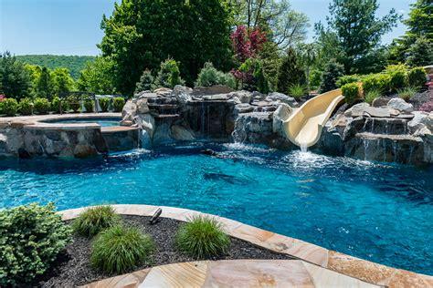bloomsbury nj custom inground swimming pool design