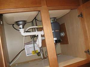 Kitchen Sink Drain Piping Configured For Maximum Under