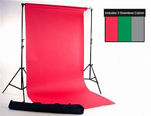 Red, Green & Gray Seamless Paper Kit | Backdrop Express