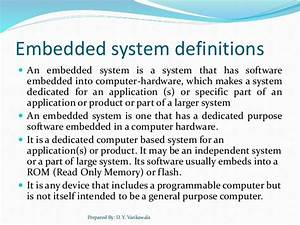 Overview Of Embedded System