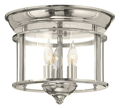 hinkley 3473pn gentry polished nickel ceiling light