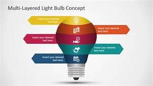Free Layered Light Bulb Diagram For Powerpoint
