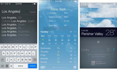 weather app iphone inside ios 7 apple s weather app gets animated