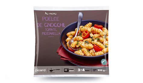 picard plats cuisin駸 poêlée de gnocchis tomates mozzarella surgelés les plats cuisinés picard