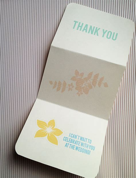 bridal shower diy thank you card tropical bridal shower