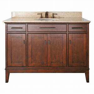 madison 48 inch vanity only in tobacco finish avanity With 48 inch bathroom vanity cabinet only