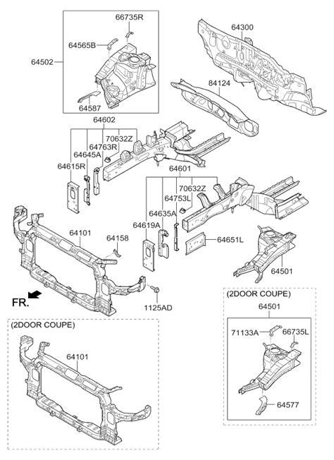 2017 Kia Forte Fender Apron & Radiator Support Panel
