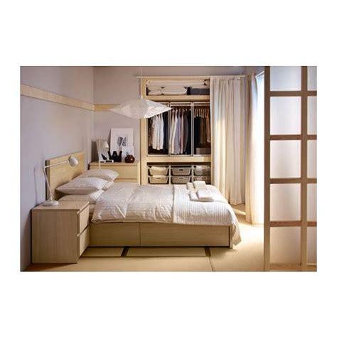 chambre chene blanchi malm boîtes de rangement stockage supplémentaire et