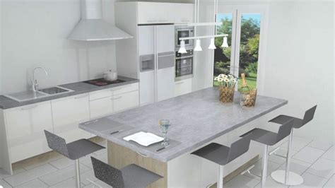 cuisine americaine ilot central modele de cuisine americaine avec ilot central 3 cuisine avec ilot central n233o blanc