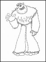 Smallfoot Yeti Compagnie Coloriage Coloring Twizzlers Tegning Til Template Websincloud sketch template