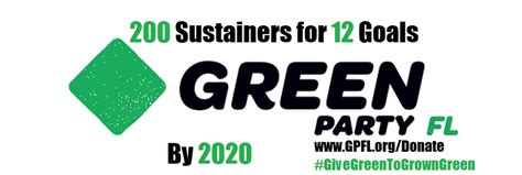 sustainers goals green party florida