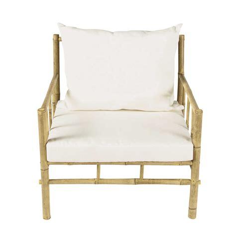 fauteuil de jardin en bambou robinson maisons du monde