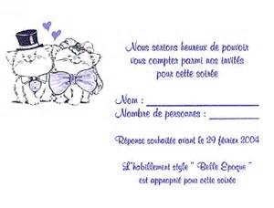 reponse invitation mariage reponse invitation mariage originale votre heureux photo de mariage