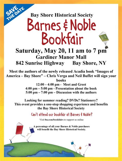 barnes and noble bayshore bay shore historical society barnes noble book fair