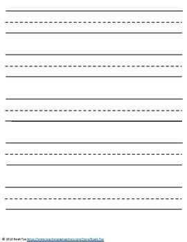 kindergarten lined paper by noah tye teachers pay teachers 612 | original 3787075 1